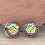 Manžetové gombíky M0003 Wonder Woman veľké