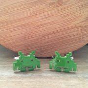 Manžetové gombíky M0270 Zelený robot 2