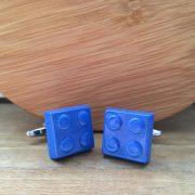 Manžetové gombíky M0366 Modré Lego 3