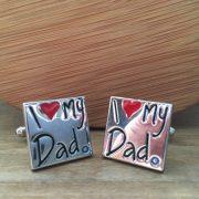 Manžetové gombíky M0406 Ľúbim svojho ocka 4