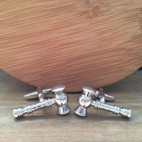 Manžetové gombíky M0426 Strieborné kladivko 3