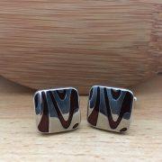 Manžetové gombíky M001 Hnedá 3