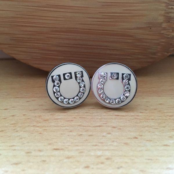 Manžetové gombíky M002 Biely ligot