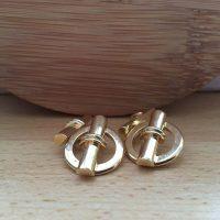 Manžetové gombíky M0054 Zlato 3