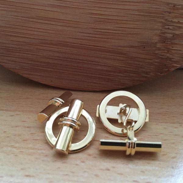 Manžetové gombíky M0054 Zlato 4
