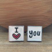 Manžetové gombíky I love you