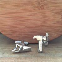 Manžetové gombíky M0037 Kladivo a pilka