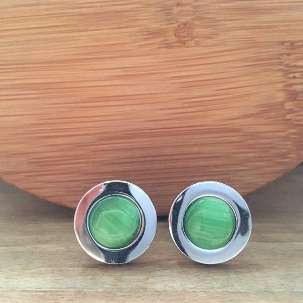 Manžetové gombíky M0063 Zelene retro 2