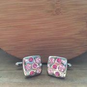 Manžetové gombíky M0148 Ružový kameň