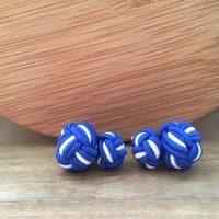 Manžetové gombíky M0167 Modrá s bielou