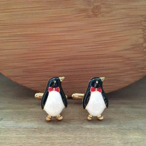 Manžetové gombíky M0173 Zlatý tučniak