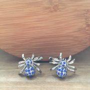 Manžetové gombíky M0194 Modrý pavúk