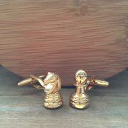 Manžetové gombíky M0205 Zlatý šach