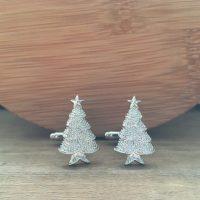 Manžetové gombíky M0215 Vianočný stromček