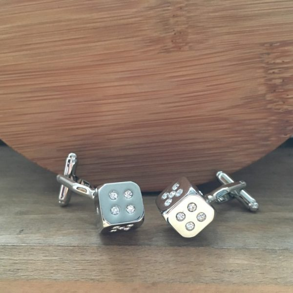 Manžetové gombíky M0223 Elegantné kocky 6