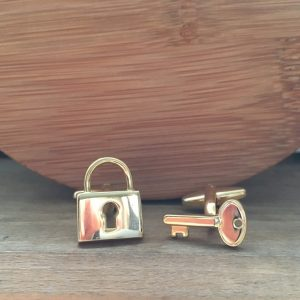 Manžetové gombíky M0225 Zlatý zámok 2