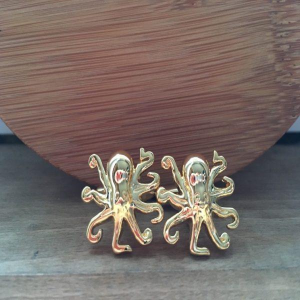 Manžetové gombíky M0232 Zlatá chobotnica
