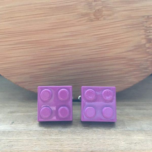Manžetové gombíky M0240 Fialové Lego