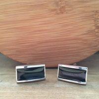 Manžetové gombíky M0301 Čierna elegancia 2