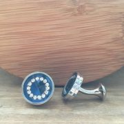 Manžetové gombíky M0330 Modrý kruh 2