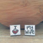 Manžetové gombíky M0356 Ľúbim svoju ženu 2