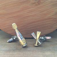Manžetové gombíky M0359 Šampanské 2