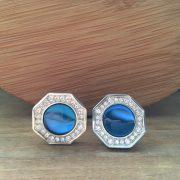 Manžetové gombíky M0388 Kryštálová modrá 2
