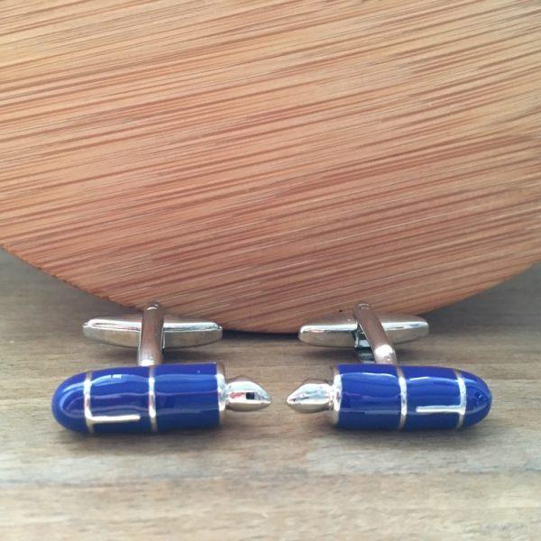 Manžetové gombíky M0397 Mordré plniace pero
