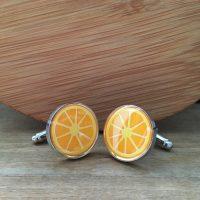 Manžetové gombíky M0410 Pomaranč