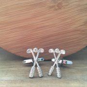 Manžetové gombíky M0423 Strieborný golf