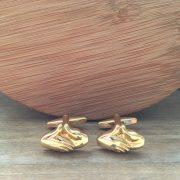 Manžetové gombíky M0425 Zlaté podanie ruky 4