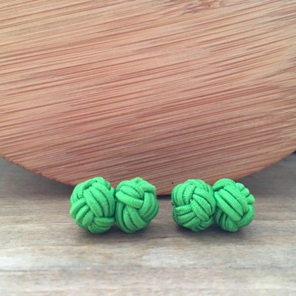 Manžetové gombíky M0462 Zelená ako tráva 3
