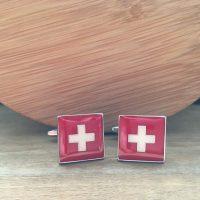 Manžetové gombíky M0516 Švajčiarsko 2