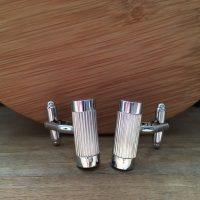 Manžetové gombíky M0521 Strieborná elegancia