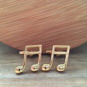Manžetové gombíky M0548 Zlaté noty