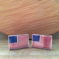 Manžetové gombíky M0552 Americká vlajka