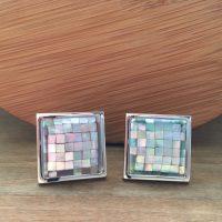 Manžetové gombíky M0561 Perleťová mozaika 2