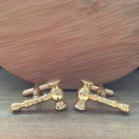 Manžetové gombíky M0572 Zlaté kladivko 2