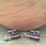 Manžetové gombíky M0581 Hnedé husle