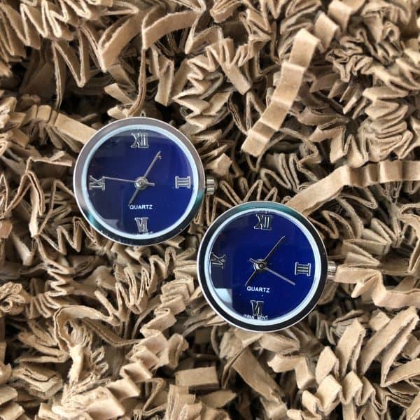 manžetové gombíky hodinky modre