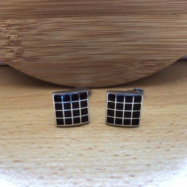 manžetové gombíky štvorcové