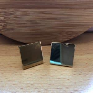 Manžetové gombíky na gravírovanie - zlatý obdĺžnik M01132_Fotor