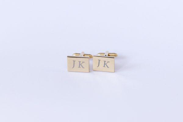 gravirovane manzetky zlaty obdlznik jk-min