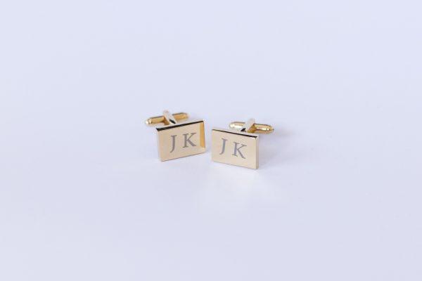 gravirovane manzetky zlaty obdlznik jk2-min